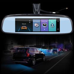 """8 """" 4G車のブラックボックスのAdasの遠隔モニタのバックミラー車のレコーダーGPS Navi WiFi Bluetooth HD1080p DVRのカメラ"""
