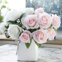Venda por grosso de fábrica de seda Artificial Rose bouquet de flores