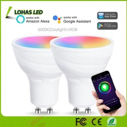 5W GU10 RGB WiFi Punkt-Glühlampe Tuya intelligenter LED Scheinwerfer