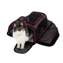 Fluglinie genehmigter expandierbarer weicher mit Seiten versehener Haustier-Träger-Beutel für kleine Hunde oder Katzen, Spitzenladen, Tsa Arbeitsweg