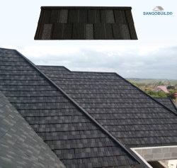 Vente chaude Stone tuile de toit vert en métal recouvert de l'arrière de bardeaux de toiture de 50 ans de garantie et aucune décoloration