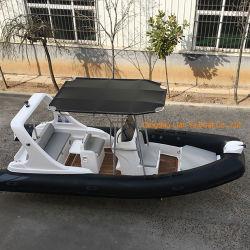 Liya 5.8m costilla de fibra de vidrio de lujo en lancha o barco de pesca de FRP