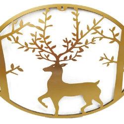 Handgemachte Metallwand Kunst-Rotwild im Waldwand-Dekor, der für Innenim freiendekoration hängt