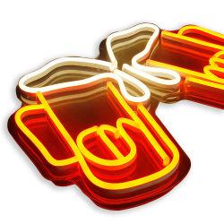 관례 번쩍이는 분명히된 지울 수 있는 네온 LED 메시지 메뉴 표시 맥주 바 네온사인