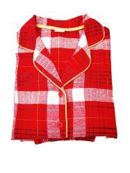 As mulheres 100% algodão impresso flanela de moda 2PC pijamas