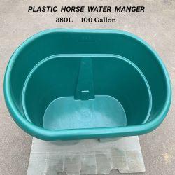 100 gallon 380L Plastic draagbare paardenkoekvoer emmer water Manager Horse Feeder Emmer met grote capaciteit, ronde manager