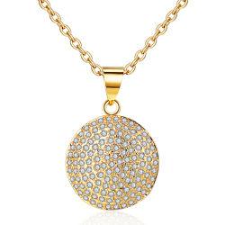 18K Rose Gold überzog Legierungs-silberne hängende Set-Form-Schmucksache-Ketten-Halskette mit Kristallperle für Frauen