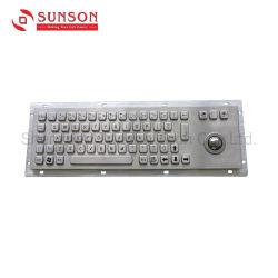 Прочная металлическая клавиатура и трекбол