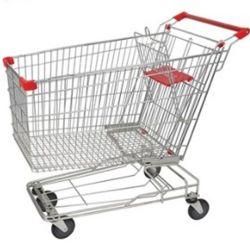 슈퍼마켓 카고 핸드 트롤리 중부하 작업용 강철 카트 트롤리