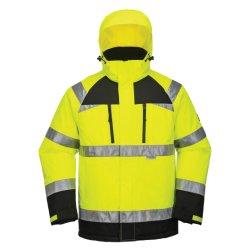 Qualidade superior Winter Hi Vis Trabalho reflexivo jaqueta de Segurança Casaco com Capuz ajustável