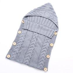 Baby-Schlafsack-Acrylfasern Hoodies Swaddle Verpackungs-Strickjacke