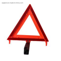 Auto-Zeichen-rotes Emergency warnendes reflektierendes Dreieck mit mit Sand gefüllter Unterseite
