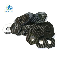 Высокое качество 3мм из углеродного волокна режущих деталей Custom-Made углеродного волокна продуктов