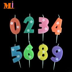 Elegante e Graciosa Orange número 0 para 9 velas de Aniversário Fornecedores