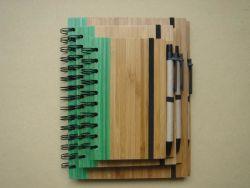 2020 Stationery Office presente de promoção da Alimentação Ecológico detampa de bambuDairy Planner Notebook do fio com caneta