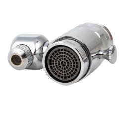 Grifo de latón de la válvula de derivación con sifón, 3 vías GRIFO con rosca macho del divisor, Adaptador de grifo giratorio 360° Adaptador para manguera de lavabo adjunto