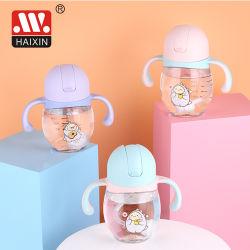 Bottiglia per il latte d'alimentazione del bambino di plastica di temperatura con l'alimentatore di Tritan dell'acqua del bambino