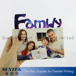 Sublimação de MDF em branco da estrutura de fotografias com a família para a Impressão Digital 155*140*5mm