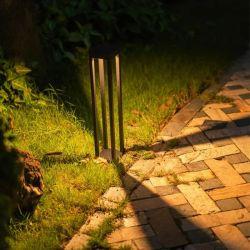 Piller luces Powered 30 Venta caliente la mantequilla de buena calidad de la mariposa público volar fuera de la seguridad de la luz LED solar al aire libre de cobre nueva lámpara de Jardín Iluminación Polo