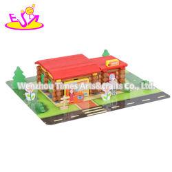 Educativas de dibujos animados de bricolaje madera la construcción de viviendas para los niños W14G049