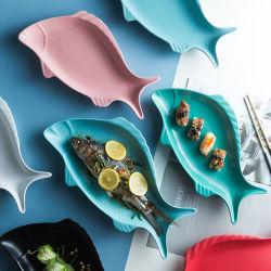 Jantar de cerâmica sopa prato bife de placa Placa a Placa de peixes peixe prato de forma a taça de peixe prato de jantar