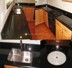 مبنى جرانيت أسود منغولى صينى مادة سليب/مطبخ/حمام تجانب/منصة قمة