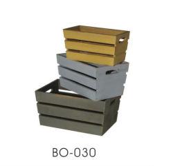 Деревянные судов корзина для хранения с фрагментами дизайн