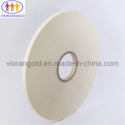 Cinta de enmascarar de papel crepé, goma de pegar, el espesor total de 180 um, resistencia a la temperatura de 150 grados centígrados, pelar la fuerza de más de 6 N/pulg.