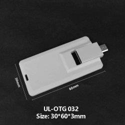 Constructeur Produit Carte OTG Carte de crédit bancaire de personnalisation d'impression couleur de la carte mémoire SD OTG USB Flash Drive USB Pen Drive