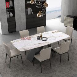 Обеденный стол с керамическим слоя верхней части белого фарфора Calacatta Кухонные мойки