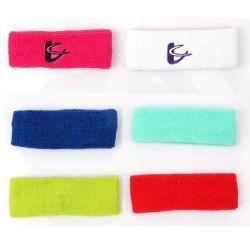 High Quality Terry Towel Sport hoofdband/hoofdband met borduurlogo