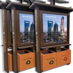 الطاقة الشمسية لصندوق إعلانات الدلفنة أحادي الجانب ومزدوجة الجانب القمامة