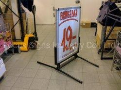 Outdoor Trade Show profilé en aluminium signe de la Chaussée de panneaux Poster statif