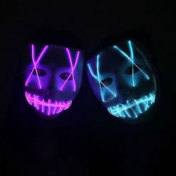 Linli пользовательский индикатор свечение неоновых EL провод маски подсети для мигает Хэллоуин Группа