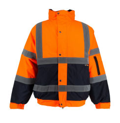 Reflektierende, poliertpoliertpoliertbekleidung fluoreszierende Orange Jacke mit CE