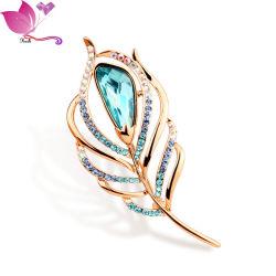 カスタムラインストーンダイヤモンド合金ブローチ / ファッションクリスタルブローチ