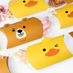 귀여운 만화 갈색 곰 사탕 선물 베개는 반점 도매 창조적인 선물 감싼 선물 접히는 상자를 상자에 넣는다