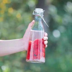 500 ml 1000 ml dranken glazen fles Juice Milk Coffee Packing met Kap van de zwenkkap