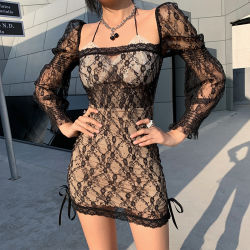 Sexy Spitze Fashion Stretch Slim Sommer Nachtclub Frau Rock