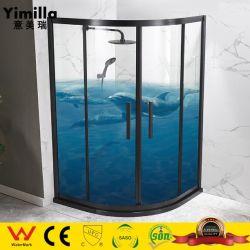 Porte de douche en acier inoxydable 304 8mm salle de douche en verre trempé