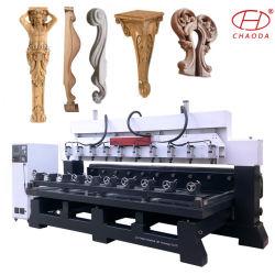 Chaoda 4 axes CNC multi chefs/fusée bois électrique Routeur pour 3D 4D AMEUBLEMENT jambes de l'artisanat d'usinage de sculpture de coupe