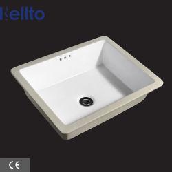 Lavatório em porcelana cerâmica de 20 polegadas, rectangulares e de montagem inferior, elegante Lava-louça de casa de banho (229)