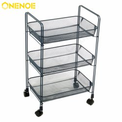 Onenoe livingroom مجموعات أثاث المنزل المعادن النسيج 3 -- منظم التخزين من الدرجة عربة نقل التدحرج متعددة الوظائف أداة المطبخ ذات الأداء القوي مع السلال