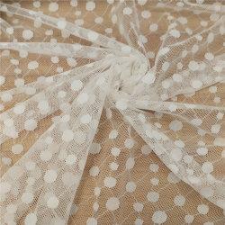 方法ポルカドットのジャカード服のための伸縮性があるレースのテュルの織布