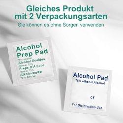 小型のパッキング、75%アルコールは1 PCSのアルコール防腐剤単一のパックが付いているアルコールパッドにパッドを入れる