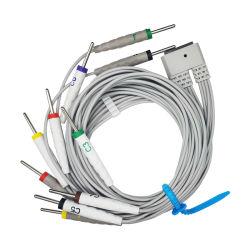 ECG ECG-kabel 10 afleidingsdraden voor patiënten Multi Link ECG-patiënt Afleidingsdraad 10 afleidingen DIN 3.0 voor Medex MECG 200 MECG 300 IEC-standaard