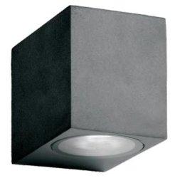 알루미늄 압출 강화 유리 GU10 1 * 35W 할로겐 램프 또는 1 * 5W LED 전구 위/아래 벽 와셔 램프 정원 조명 LED 실외등 벽 조명