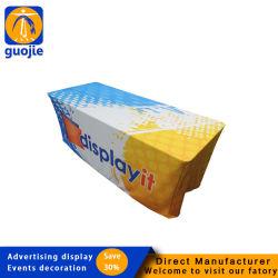 La impresión de logotipo de color personalizado de poliéster tejidos Mantel, tapa de la Mesa Imprimir