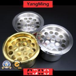 Zigarettenschachtel Aschenhalter aus Edelstahl winddichtes Für Casino Poker Tisch dediziert verwenden YM-PA01