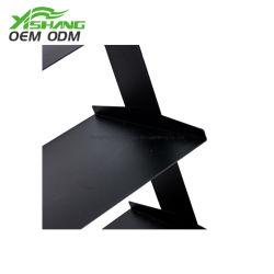 Scaffali domestici d'acciaio del blocco per grafici della scaletta di Fblack degli accessori del banco di mostra del metallo